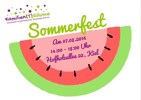 Flyer Sommerfest Melone